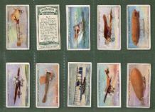 Collectible Tobacco cigarette cards Aviation, Airship, Biplane,